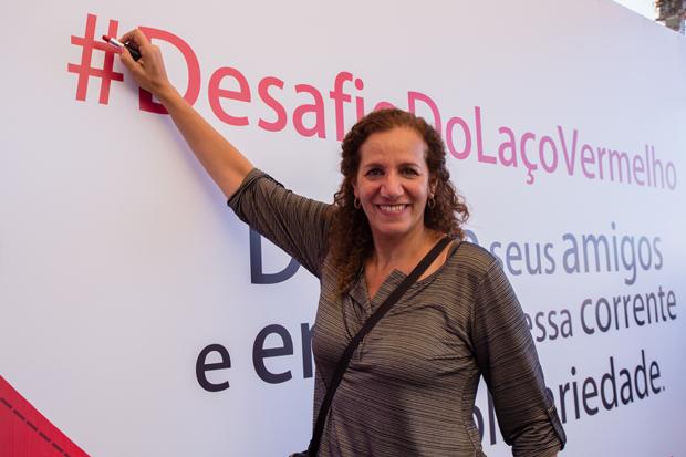 A deputada federal Jandira Feghali (PCdoB-RJ) entra no #DesafioDoLacoVermelho