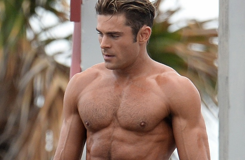 Zac Efron Shows Off His Incredible Physique As He Works Out On An Obstacle Course While Filming Scenes For Baywatch In Miami