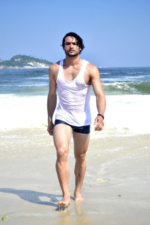 Ricardo Castro,  candidato Mister Universo Cidade do Rio, tem 22 anos e mede 1,78m.