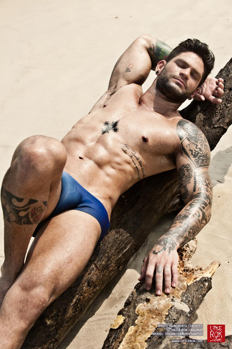 Photo by Roberto Chiovitti - Model Thuan Ferreira Santos - Swimwear Little Rok - shot in Rio De Janeiro