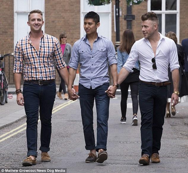 (da esquerda para direita) Sebastian Tran, Shayne Curran e Adam Grant.
